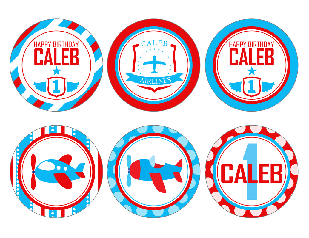 Printable Airplane Party Decorations Red & Blue by by ...